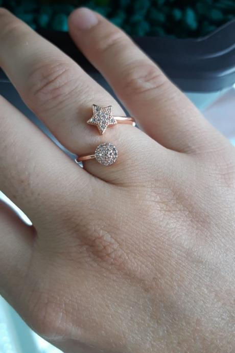 Minimalist Star Ring 24K Rose Gold-filled